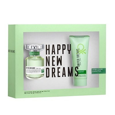 Kit Perfume United Dreams Live Free Edt 80ml + Body Lotion 1