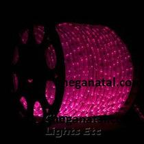 Mangueira Luminosa De Led Rosa Rolo Com 100 Metros Natal