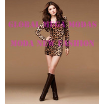 Vestido Tigresa Onça Oncinha Curto 75 Cm Disponível P E Pp