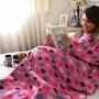 Cobertor Com Mangas Em Soft Infantil - Corações - Lux Conf