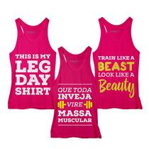 Frete Grátis! Combo Fashion Fitness: 3 Regatas Femin. Rosa