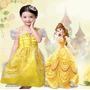 Lindo Vestido Bela Filme Bela E A Fera Princesa Infantil