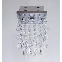 Lustre De Cristal Bacalhau Quadrado 17x17x23cm - Jp/ibarak/1