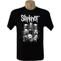 Camiseta Bandas Rock Slipknot Tradicional Masculina