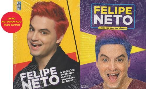 Felipe Neto Autografado Kit 2 Livros Última Unidade 1e06ac864a
