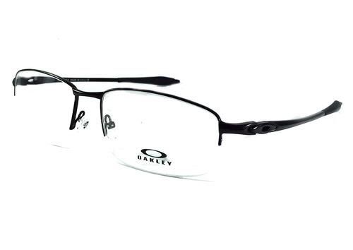 9202f8906 Armação P/ Oculos De Grau Meio Aro Ox8019 Titanium Masculino
