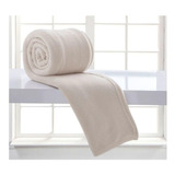 Cobertor Corttex Home Design Casal Bege-claro Lisa
