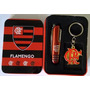 Chaveiro + Canivete Time Flamengo Rubro Negro Raça Fla