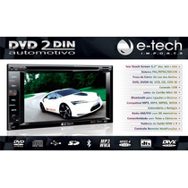 Dvd Para Carro Central Multimidia 2 Din Bluethooth Usb Sd