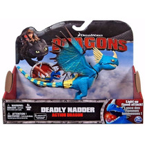 Boneco Como Treinar Seu Dragão 2 Deadly Nadder Action Dragon