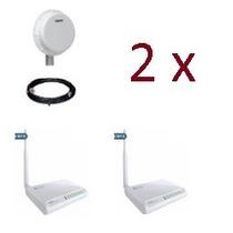 Kit Cliente Com Wireless, 4 Rádios 1000mw, 2 Antenas Aquário