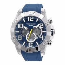 Relógio Masculino Technos Os20hp/8a Legacy Cronógrafo Azul