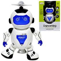 Brinquedo Robô Que Dança Gira Com Luzes Led E Musical
