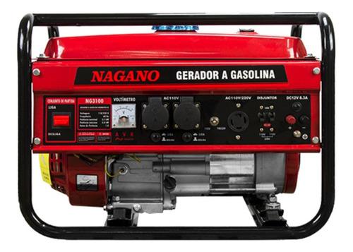 Gerador Portátil Nagano Ng3100 3000w Monofásico Com Tecnologia Avr 110v/220v (bilvot)