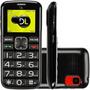 Telefone Celular Dl Dual Preto 2 Chips Bateria Removível 2g