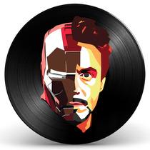 Quadro Iron Man Em Disco De Vinil - Decoração