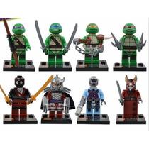 Tartarugas Ninjas Compatível Ao Lego ~4cm 8pçs/lote