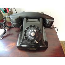 Telefone Ericsson Antigo Braquelite Preto Funcionando Lindo