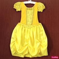 Fantasia Princesa Bela E A Fera Infantil Luxo Com Luvas