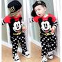 Conjunto Criança Manga Longa Infantil Mickey 1 Ano E 6 Meses