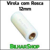 Virola Com Rosca 12mm P/ Taco Sinuca Bilhar Snooker Sola