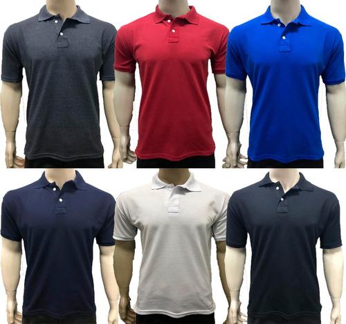 Kit 05 Camisas Gola Polo Masculina - Frete Grátis f355307469e00