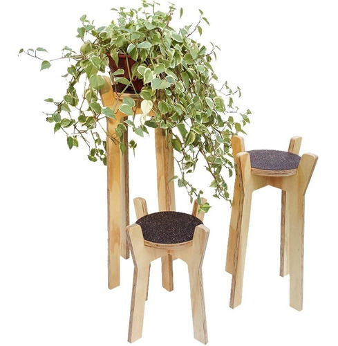 Kit 3 Suportes Para Vasos De Plantas
