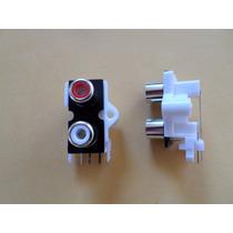 Conector Rca Femea Duplo Para Módulos Amplificadores 10 Pç