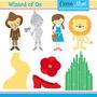 Kit Digital Filme Mágico De Oz Dorothy Imagens Clipart