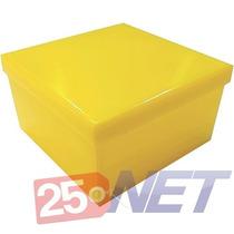 400 Caixinhas 7x7 P/ Lembrancinhas, Caixinha 7x7x4 Amarela