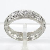 Esfinge Jóias - Anel Aliança Inteira Platina Diamantes Aro12