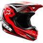 Capacete Fox V1 Race Vermelho 61-62cm Gg Trilha Cross A Sw