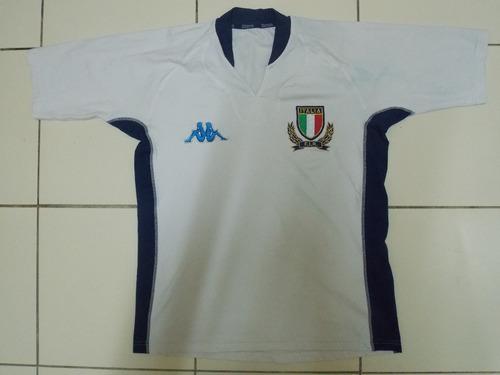 Camisa Itália Rugby Kappa Branca Tamanho G 013d6269d25f6