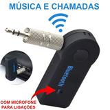 Bluetooth Receiver Car P2 Com Microfone Adaptador Para Carro