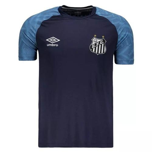 694ae86682 Camisa Santos Treino Oficial Umbro 2018   2019 Azul Marinho