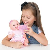 Boneca Bebê Feliz Mamadeira Cotiplás Super Oferta