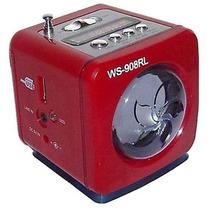 Caixa De Som Ws-908 Portátil Rádio Fm Entrada Usb Cartão Sd