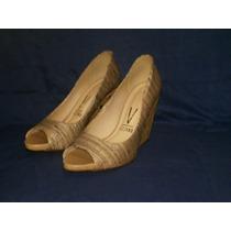 Sapato Plataforma Em Tecido ( Vizzano ) Num 38