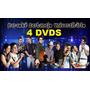 4 Dvds Karaokê Musicas Universitário Anita Funk Sertanejo Mc