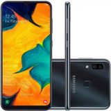 Celular Samsung A30  64gb 6.4'' 4gb Ram 16mp Com Nota