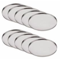 Kit 10 Fôrmas Para Mini Pizzas-forminhas Em Alumínio 11,5 Cm