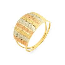 Anel De Ouro 18k Ouro Rosê, Branco E Amarelo