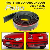 Protetor De Parachoque Do Palio 2005 2006 2007 - Kit 3 Peças