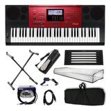 Kit Teclado Musical Arranjador Casio Ctk-6250 + Acessórios