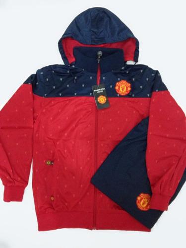 5fc953704f6c5 Agasalho Conjunto Do Manchester United Novo Blusa E Calça