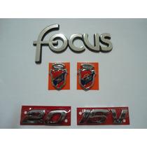 Kit Emblemas Focus + 2.0 + 16v + (2) Brasão Ghia - Nbz