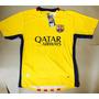 Camisa Barcelona Messi Amarela E Neymar Jr Frete Grátis