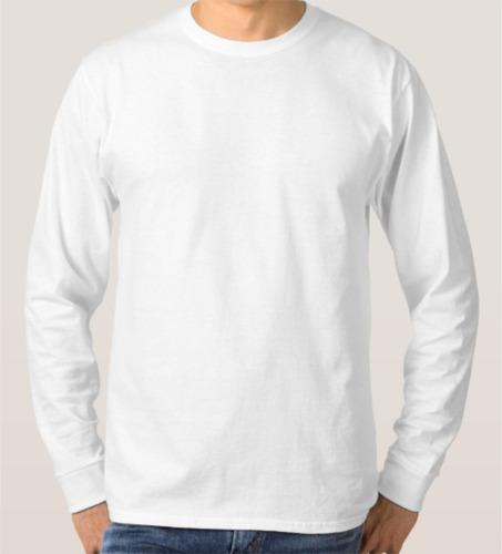 Kit C 10 Camiseta Manga Longa Basica Algodão Masculina Lisa 60f784cc26f
