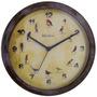 Relógio Parede Herweg 6658 273 Canto Passaros - Refinado