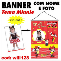 Impressão Banner Em Lona Digital Fotográfico Minnie Will128